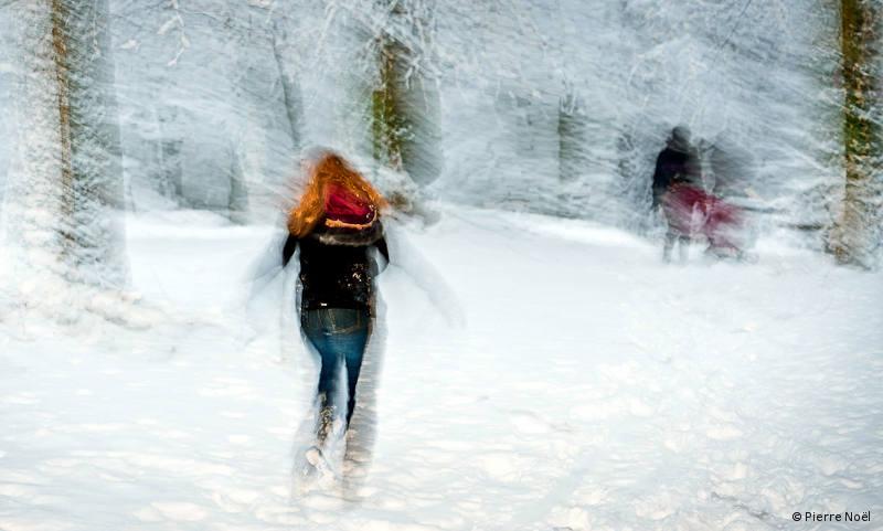 Illusion dans la neige