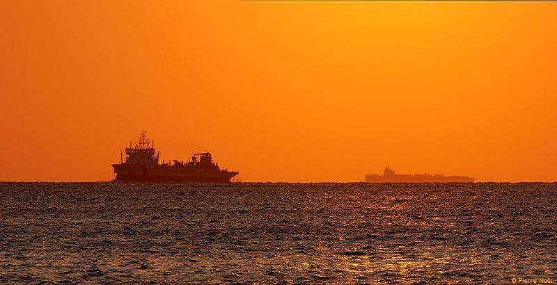 Le Havre - Départ sous le soleil