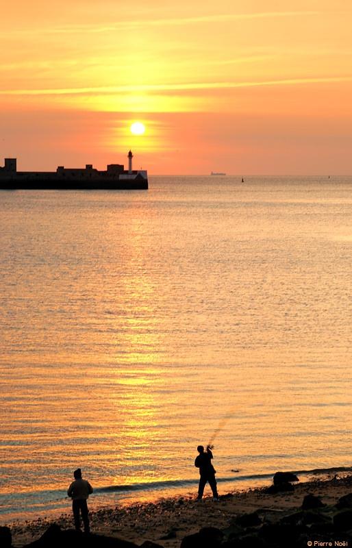 Le Havre - Pêcheurs à la ligne