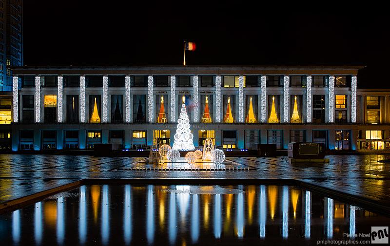 Le Havre - Hôtel de ville - Illuminations